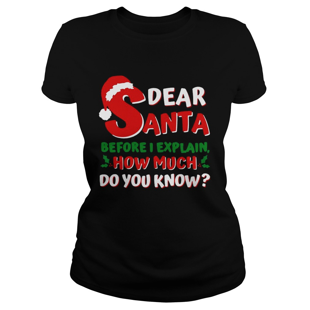 Dear Santa Before I Explain How Much Do You Know  Classic Ladies