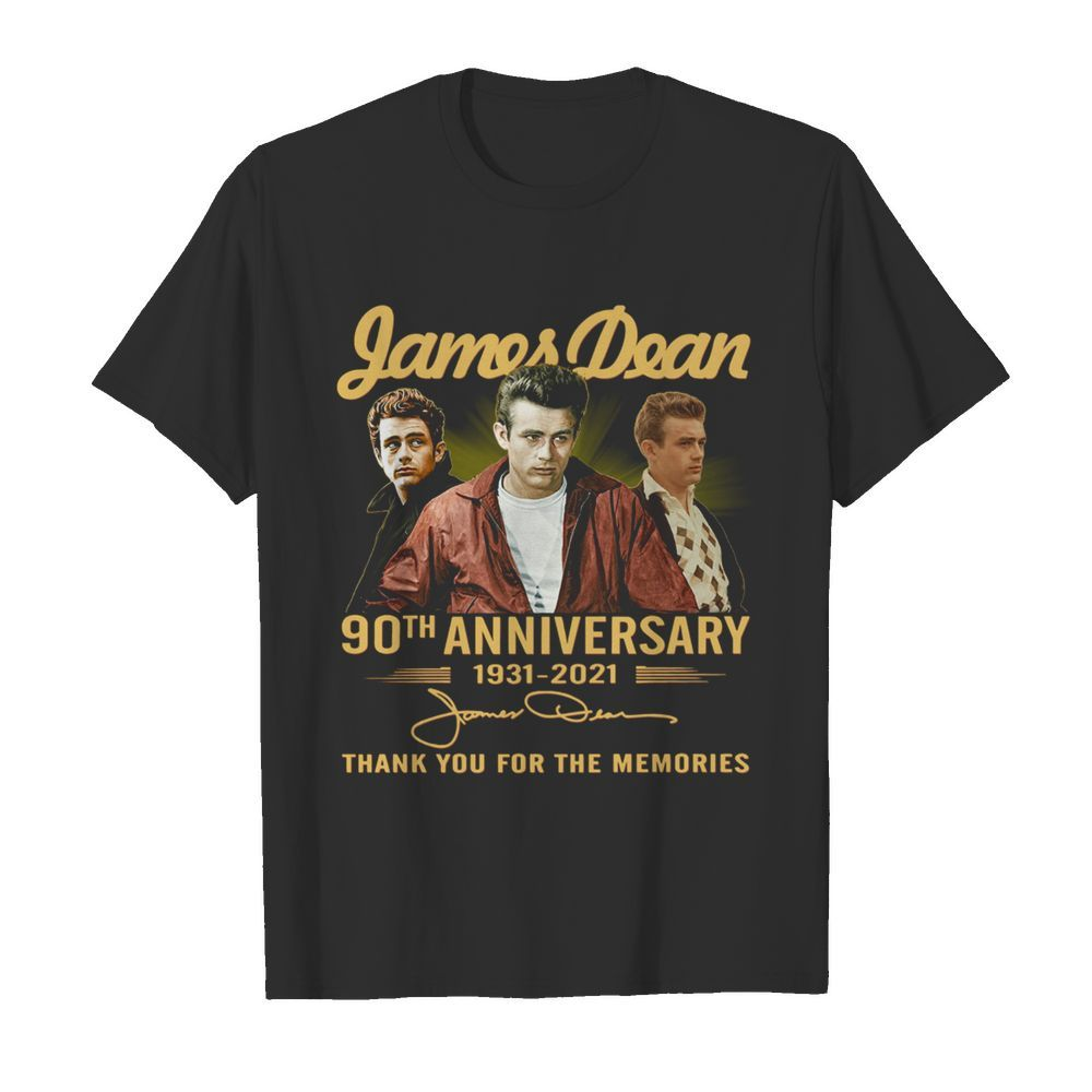 James Dean 90th Anniversary 1931 2021 Thank You For The Memories Signature  Classic Men's T-shirt