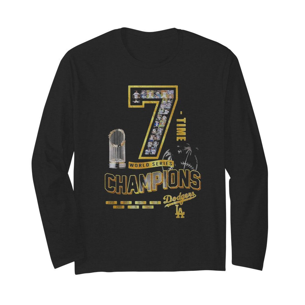 Los Angeles Dodgers 7 Time World Series Champions 1955 2020  Long Sleeved T-shirt