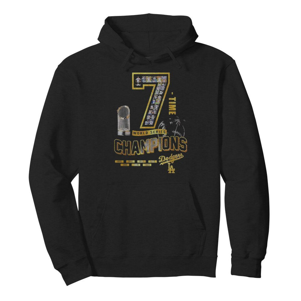 Los Angeles Dodgers 7 Time World Series Champions 1955 2020  Unisex Hoodie